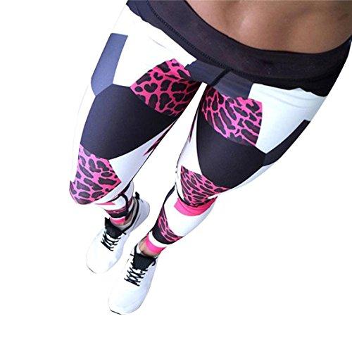 Foto de Pantalones Yoga Mujeres, ❤️Xinantime Polainas de yoga impresas deportes de las mujeres Entrenamiento Gym Fitness ejercicio atlético Pantalones (S, ❤️Rojo)