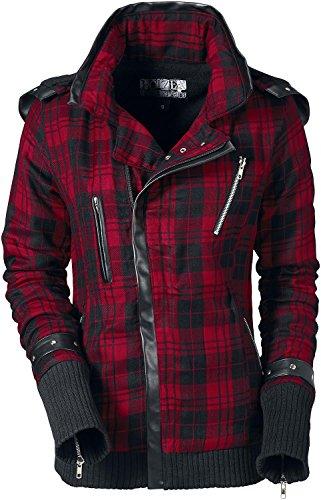 Poizen Industries Z Jacket Giacca donna nero/rosso S