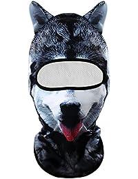 3D Animal Balaclava Cagoule Visage cou capot Masque pour Fête d Halloween,  Sports De d316b1d040f