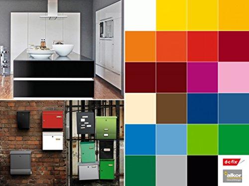 Selbstklebende Folie Tapete Klebefolie für Möbel Küche Tür & Deko versch. Unifarben matt & glanz Möbelfolie Küchenfolie Dekofolie Selbstklebefolie grün - Uni Lack Smaragd -