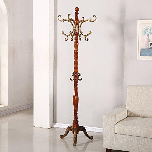 SKC Lighting-Porte-manteau Plancher Solide Bois Manteau Rack Continental Combinaison Cintre Creative Chambre Salon Vêtements Rack (Couleur : Begonia color)