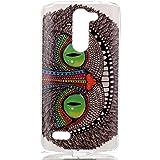 LG L Bello Funda Bumper,TPU Funda de Silicona de Gel Carcasa para LG L Bello D335 D331[Not for LG Bello II]-Ojos verdes