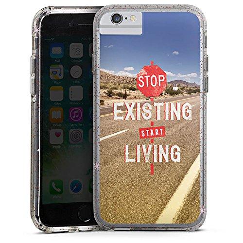 Apple iPhone X Bumper Hülle Bumper Case Glitzer Hülle Phrases Sayings Sprüche Bumper Case Glitzer rose gold