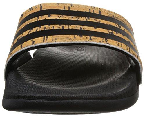 adidas Herren Adilette CF+ Cork Badeschuhe Schwarz (Core Black/Core Black/Core Black)