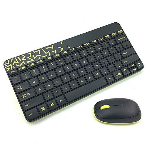 JAYDENN Kabellose Maus und Tastatur Set Ultradünne Tastatur und Maus