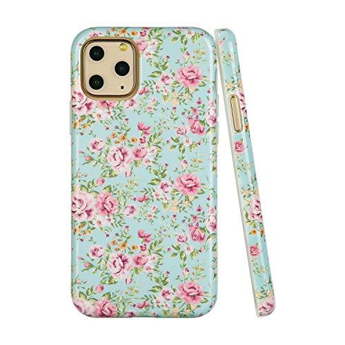 SunshineCases【Kompatibel: Apple iPhone 11 Pro】 schlanke, volle Hülle, süße Schutzhülle für Frauen und Mädchen, Vintage Pink Floral