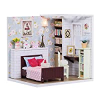 iBellete Doll Houses,DIY House Model Kit With Music Box And LED Light Kit,Floral Cottage Miniature Dollhouse For Kids And Adults Christmas Birthday Gift