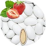 EinsSein 500g Hochzeitsmandeln Gastgeschenke Erdbeere weiß
