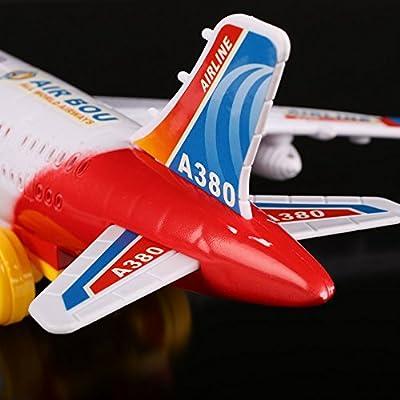 Cido Elektrisch Flugzeug Bewegliche blinkende Lichter Geräusche Flugzeugspielzeug Airlines Modell Kinder Geschenk von Cido