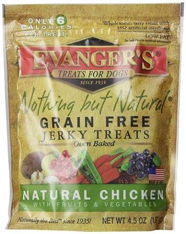 EVANGER'S Nothing But Natural Organic Chicken Dog Training Treats Food 127 Gram