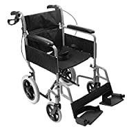 NRS N29210 Transit-Lite Lightweight Foldable Attendant Controlled Travel Wheelchair