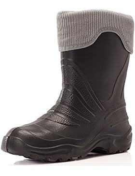 Ladeheid Botas de Agua Antideslizantes Zapatos de Seguridad Unisex Niños LA-861-2017
