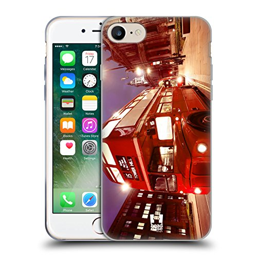 Head Case Designs Big Ben Glockenturm Bei Nacht London Schönsten Orte Der Welt Set 2 Soft Gel Hülle für Apple iPhone 6 / 6s Routemaster Doppeldeckerbus Bus London Transport