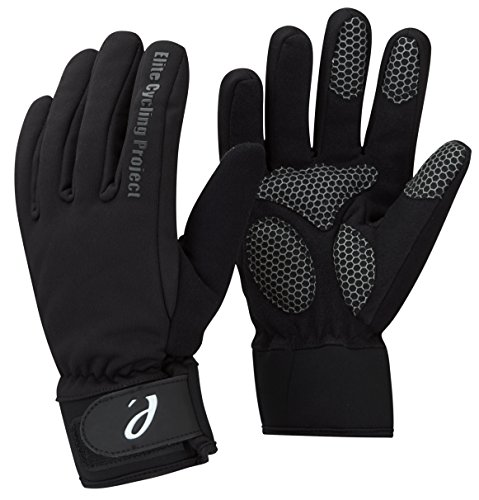ELITE CYCLING PROJECT MALMO IMPERMEABLE INVIERNO CICLISMO GUANTES PALMAS ACOLCHADAS CON FORRO THINSULATE  HOMBRE  COLOR NEGRO  TAMAÑO SMALL