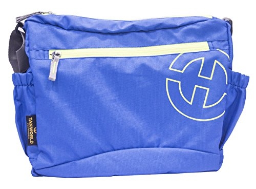 College Messenger Bag - Tanworld Crinoid Casual Shoulder Bag for Boys & Girls - Stylish Crossbody Satchel (TWMB01-Blue)  available at amazon for Rs.299