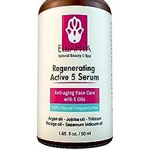 Serum Facial Regeneración Activa 5 Elbahya, con 5 Aceites, Máximo Regenerador Natural De La Piel con Aceite de Argán - Aceite de Jojoba - Aceite de Triticum borraja - Aceite de Ajonjolí.