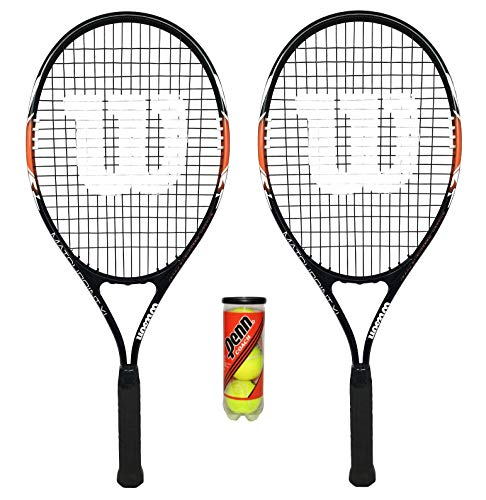 2x Wilson matchpoint XL Tennisracket + - Tennisschläger Set Erwachsene