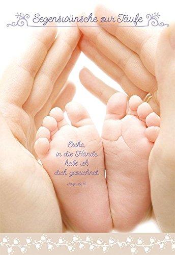 Taufkarte Segenswünsche zur Taufe (6 Stck)