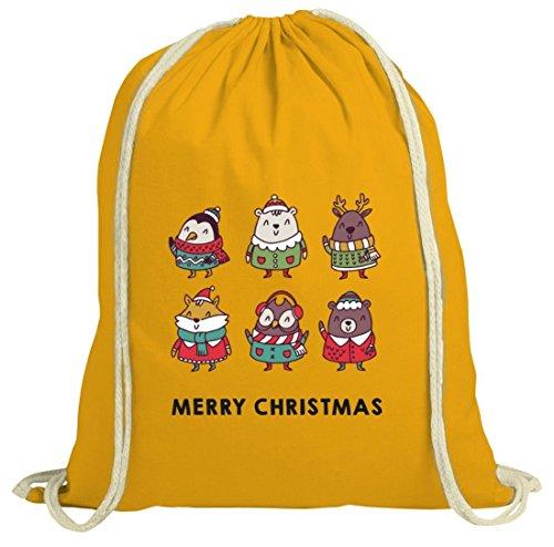 Natura Natalizia Borsa Con Cantanti Di Natale Motivare Dalla Natura Gialla Shirttreet