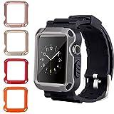 Cinturino Apple Watch, PEMOTech 6 in 1 Braccialetto Robusto Orologio Apple + 5 Protezioni per lo schermo 42MM di Apple Series 1/ Series 2/ Series 3 Tutti i modelli