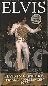 3 cd + 1 dvd coffret longbox rare elvis presley final performances 1977 ! 19/6/77 + 21/6/77 + 26/6/77 concerts + cbs tv special video