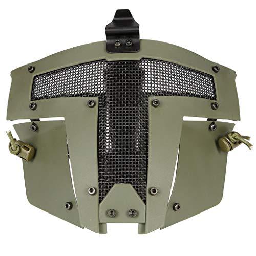 BoburyL Full Face Metall Stahl Netz-Ineinander greifen-Masken-Jagd-CS Spiel-Halloween-Party Cosplay volles Radfahren Gesichtsmaske