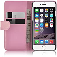 iPhone 6 / 6s Lederhülle | JAMMYLIZARD Ledertasche [ Wallet Tasche Series ] Leder Book Case Hülle Flip Cover Schutzhülle mit Kartenfach, Rosa