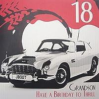 "White Cotton Cards Code SBs27 ""18 Nieto A presión Have A Birthday To thrill"" hecho A mano 18th cumpleaños con texto en inglés"