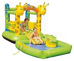 Idea Regalo - Happy People Wehncke, Castello Gonfiabile giraffa, Multicolore