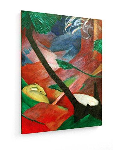 franz-marc-ciervo-en-el-bosque-ii-30x40-cm-weewado-impresiones-sobre-lienzo-muro-de-arte