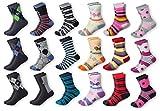 12 paires Chaud enfants chaussettes M-Mala garçons filles jeunesse qualité coton qualité papillon football