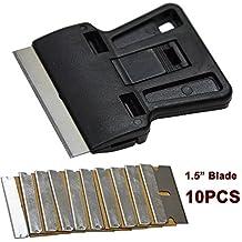 Ehdis® sicurezza vernice raschietto Mini rasoio raschietto con 10 extra da 1,5 pollici Un taglio (Carbonio Lama Lame)