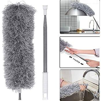 Sichler Haushaltsger/äte Plumeau mall/éable en microfibre avec manche t/élescopique XXL 280 cm
