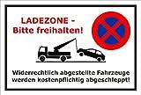 Schild - Lade-zone - Bitte frei-halten - 60x40cm mit Bohrlöchern | stabile 3mm starke PVC Hartschaumplatte – S00020S-A +++ in 20 Varianten erhältlich