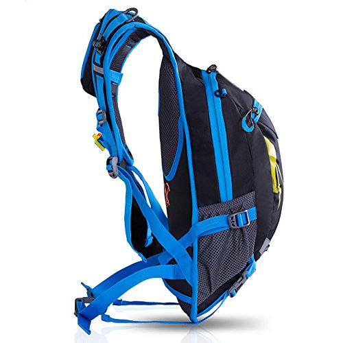 Fahrradrucksäcke, 18L Leichter Fahrrad Rücksack mit Regenschutzkappe blue 2