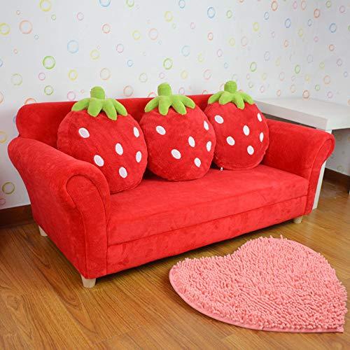 QZXCD Sofa DREI Kinder Sofa lang niedlich Cartoon Tuch Baby Baby Sofa Prinzessin Erdbeere Kombination Sofa C