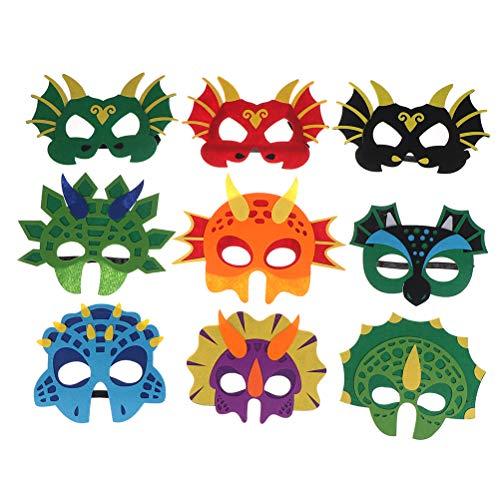 WWmily Dinosaurier-Masken für Kinder, Dinosaurier-Spielzeug für Jungen und Mädchen, Partyzubehör, Dinosaurier, Partyzubehör