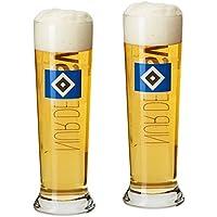 2er Set Weizengläser Weizenlas Bierglas Glas Hamburger SV HSV