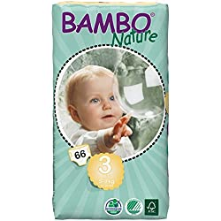 Pañales biodegradables Bambo Talla 3 - 66 uds