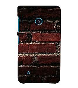 PrintVisa Brick Wall Design 3D Hard Polycarbonate Designer Back Case Cover for Nokia Lumia 530