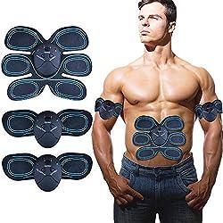 YUCHEEN Appareil Abdominal Muscle Stimulateur, Electrostimulateur Musculaire EMS Ceinture Abdominale ABS électro-Stimulation Muscle Trainer Massage Hommes Femmes