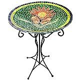Gardener 's Select Mosaik Glas Vogeltränke und Ständer