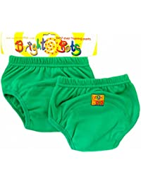 Bright Bots Potty Training Pants (Twin Pack, Green, Large, 24 - 30 months)