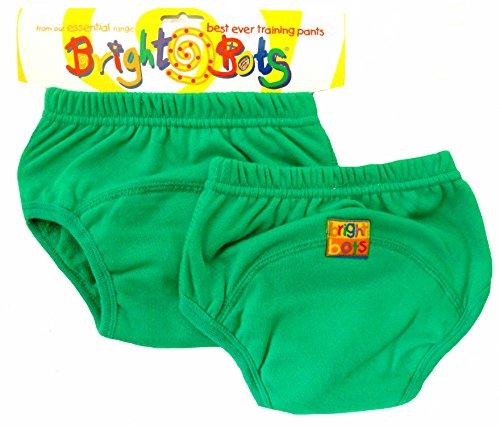 Bright Bots Bright Bots Unterhose für Töpfchentraining, Gr. L / 24-30 Monate, Grün, 2 Stück