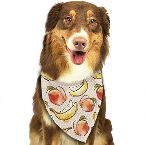 Pfirsich und Banane Mode Hund Bandanas Lätzchen Schal Haustier Hund Katze Hund ()