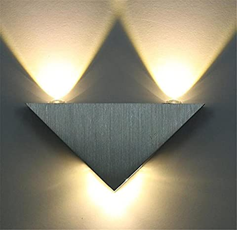 H&M Aluminum LED Wall Lamp Up And Down Lights For Bedroom Lamps Living Room Lights Hall Porch Walkway Decor Fixture Wall Sconce Light 3W (pack of 3) ,