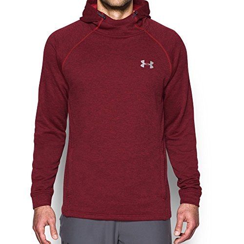 Under Armour Tech Terry Fitted Po Sudadera, Hombre, Rojo, XL
