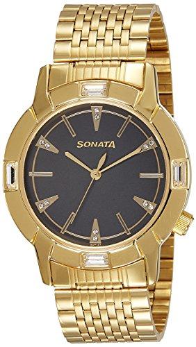 51sCHHP72rL - Sonata 7116YM01 Mens watch