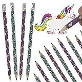 Carpeta® - 12 x Einhorn Bleistifte ┃ Mitgebsel Set Kindergeburtstag ┃ Regenbogen Unicorn Party Mädchen lieben Das Zeichnen ┃ 12 Stück