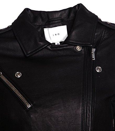 IRO Damen Lederjacke Gipsy Bikerjacke Jacke Leder – Leder – schwarz black 42 - 3